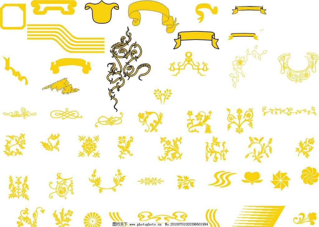 花纹 花边 底纹 欧洲图纹 经典 古典 线条 花藤 边框 相框 条纹 金边