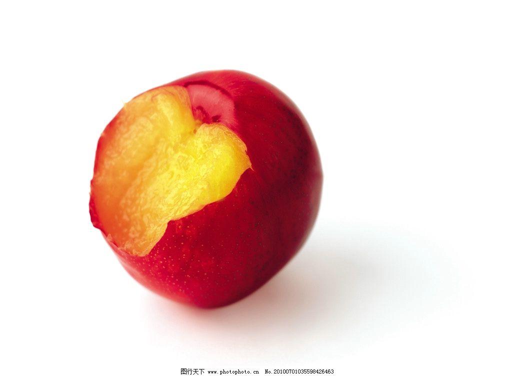 油桃 桃子 果肉 水果 生物世界 摄影 300dpi jpg