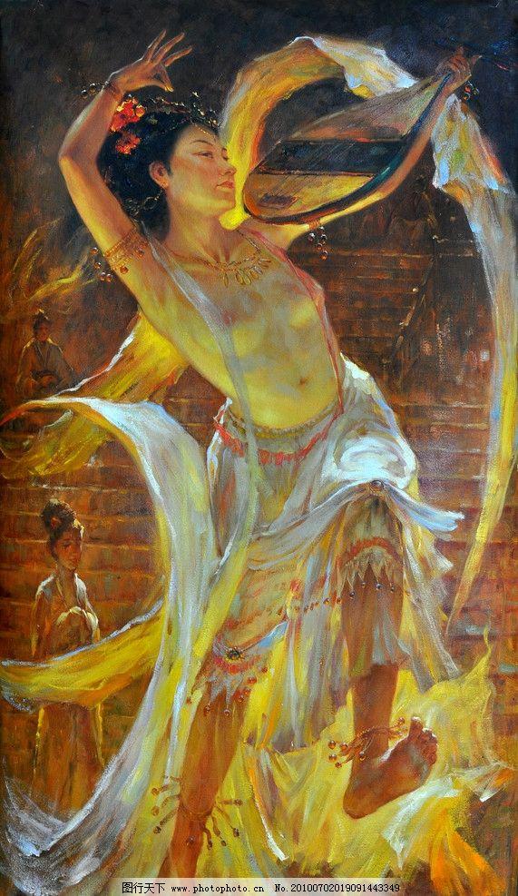 油画 抽象 装饰画 高清 人物 重彩画 无框画 印象 线条 美女 高清油画