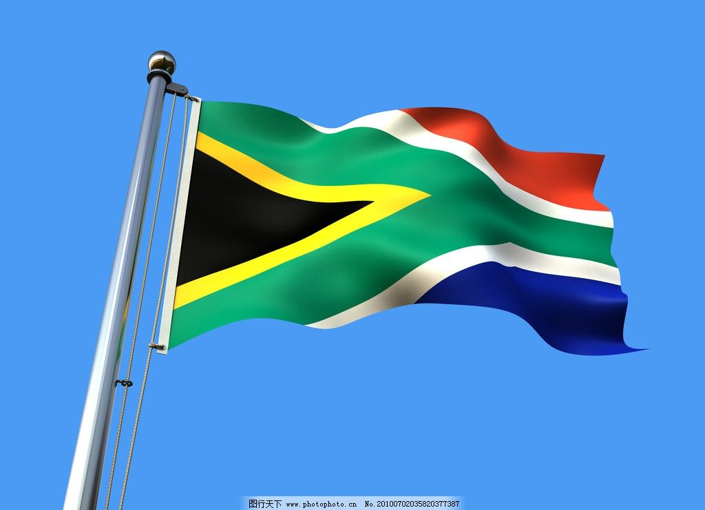 南非国旗 南非 非洲 国旗 飘扬的旗帜 世界杯 节日庆祝 文化艺术 摄影