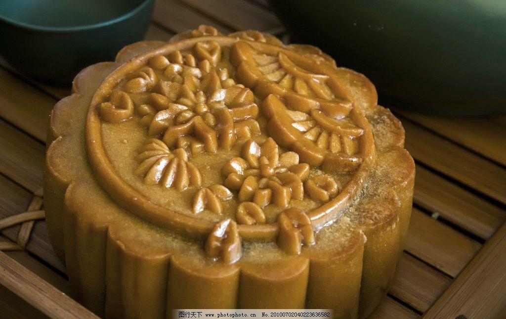 月饼 棕色 团圆 中秋节 食品 传统美食 餐饮美食 摄影