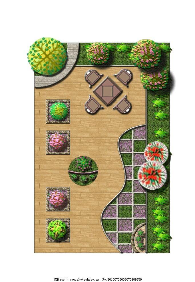 屋顶花园 屋顶花园景观绿化效果图 园林 景观 桌椅 木平台 环境设计