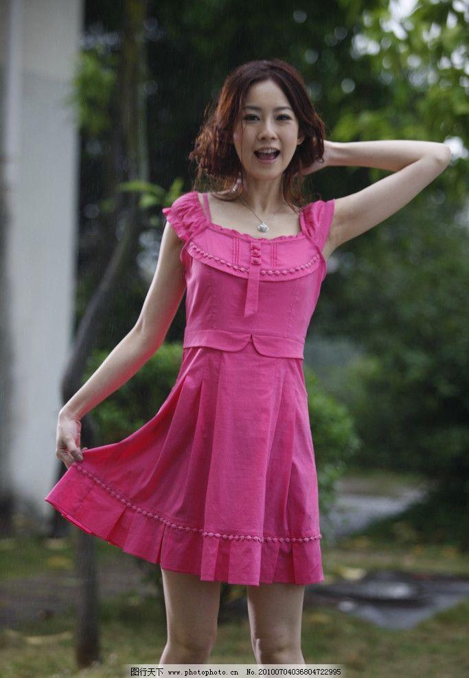 美女服装 美女 服装 衣服 写真 靓妹 夏天 裙子 女性女人 人物图库