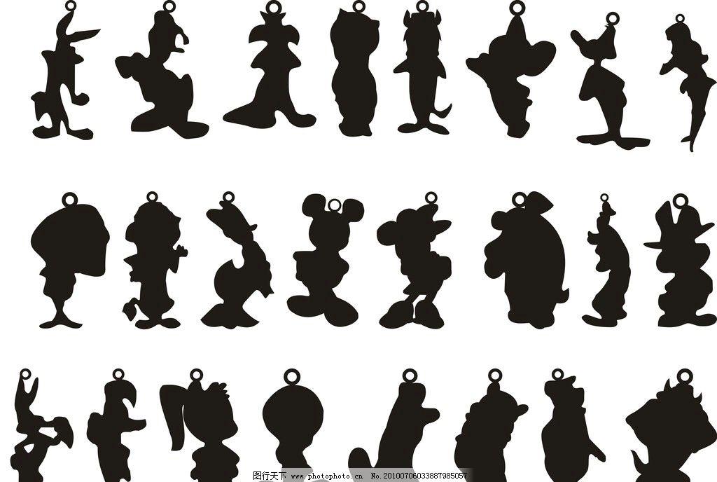 动物轮廓 动物 饰品雕刻 动物矢量图 矢量素材 其他矢量 矢量 cdr