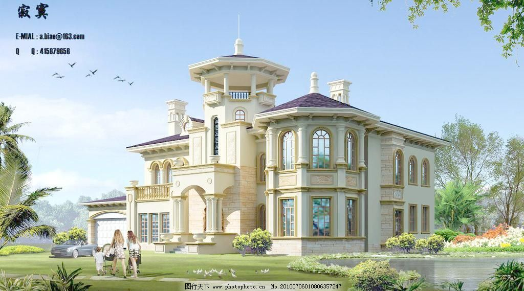欧式别墅图片