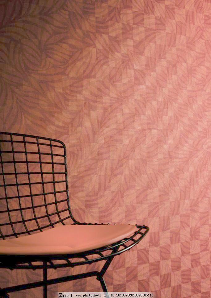 高档欧式粉色花纹布艺贴图