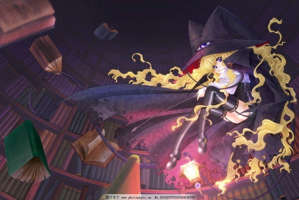 设计图库 动漫卡通 动漫人物  可爱女巫 动漫美女 可爱女孩 女巫 魔法