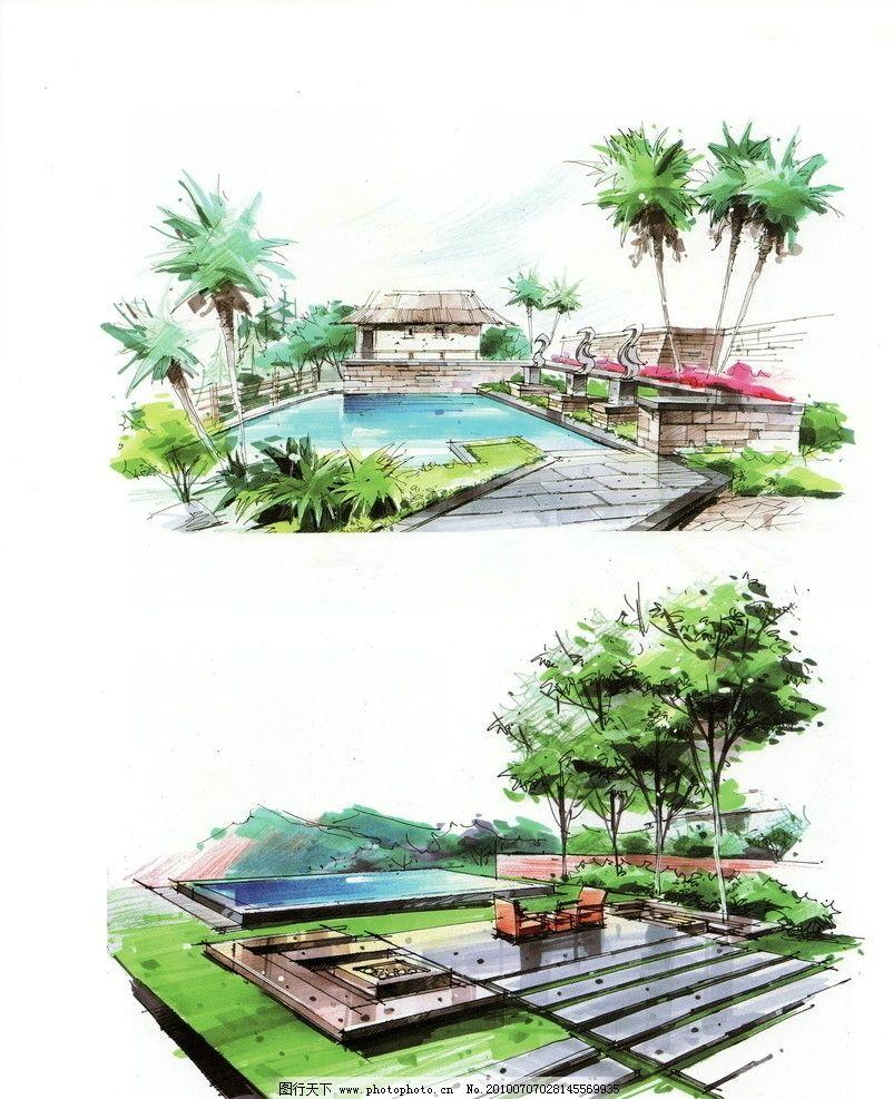 手绘景观 景观平面图 园林景观设计 公园景观 景观园林 景观规划 环境