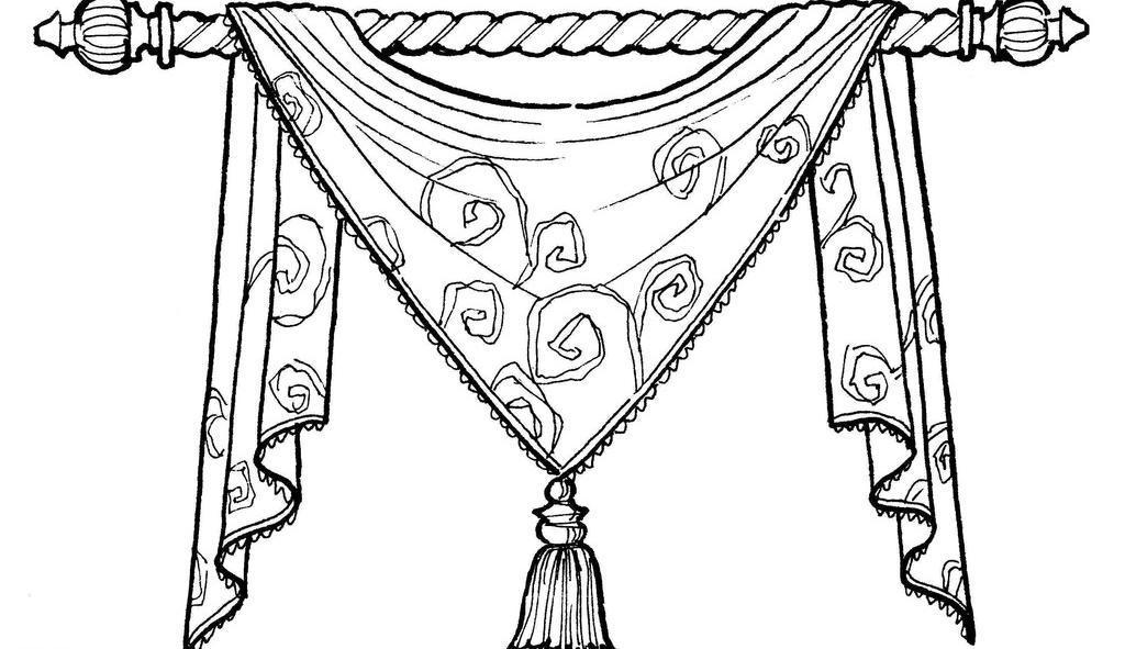 窗帘花型图案简笔画