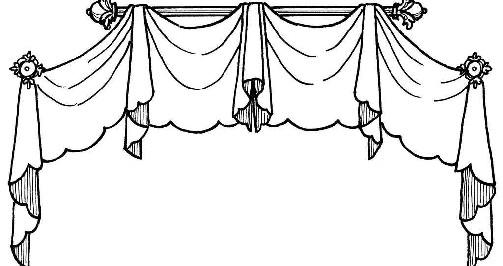 窗帘简笔画 步骤 画法