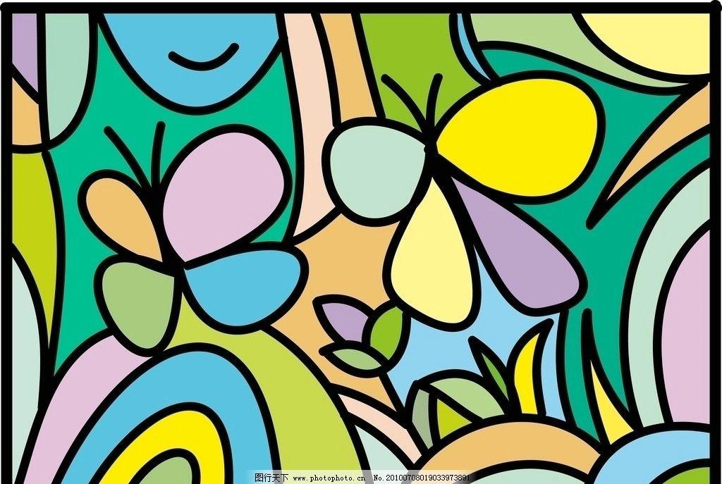 抽象 卡通 装饰画图片_绘画书法_文化艺术_图行天下