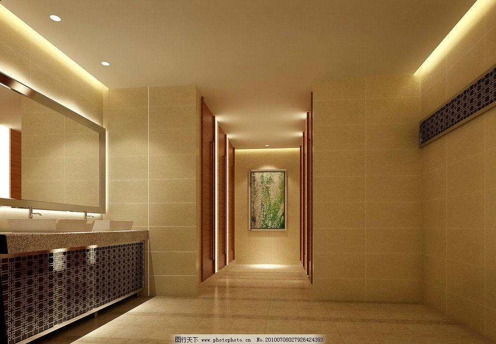 酒店洗手间效果图 餐饮 酒店洗手间        装饰 酒店装修效果图 室内