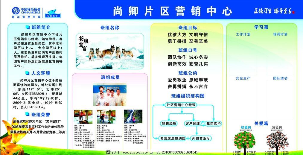 中国移动班组宣传栏 中国移动 班组宣传栏 展板模板 广告设计 矢量