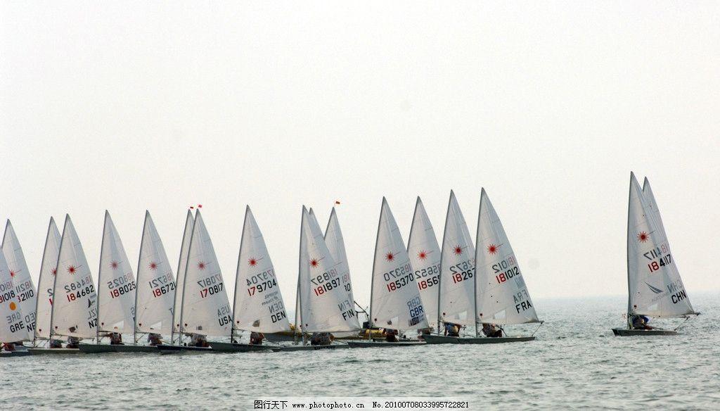 帆船 青岛帆船 青岛风光 沿海风光 奥帆赛 待发 帆船比赛 奥运项目