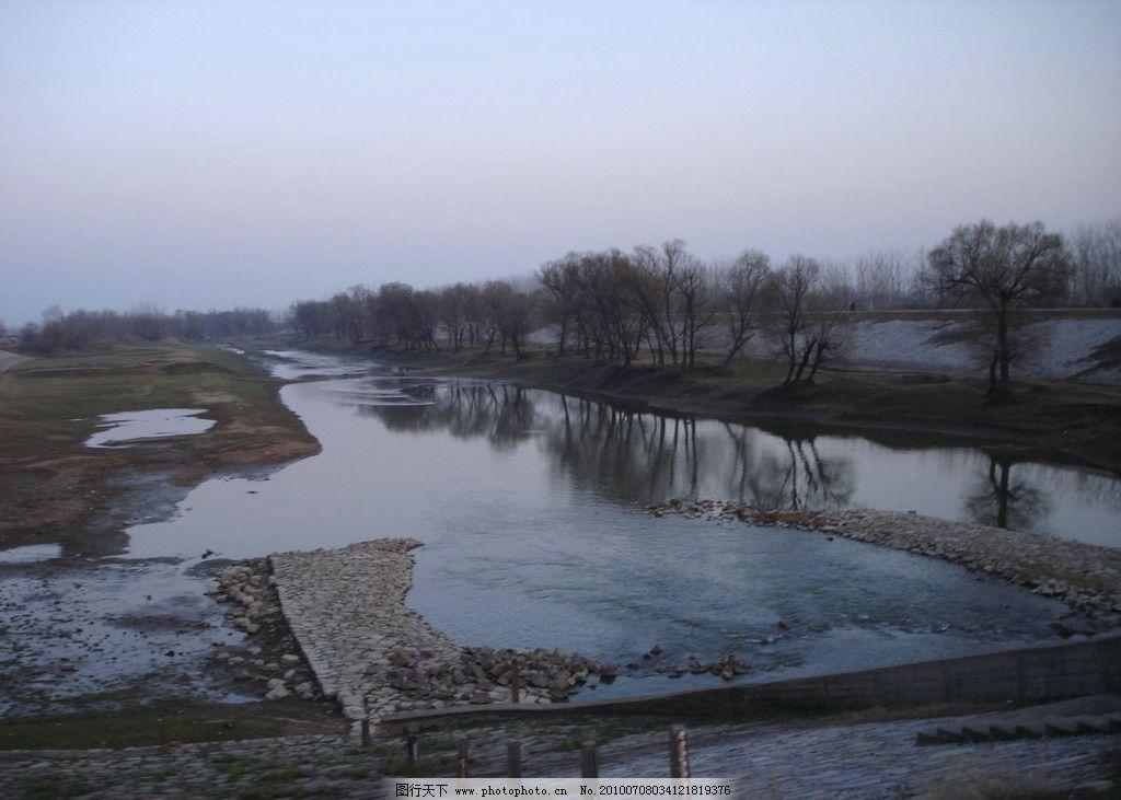 日落前的太阳河图片_自然风景_旅游摄影_图行天下图库