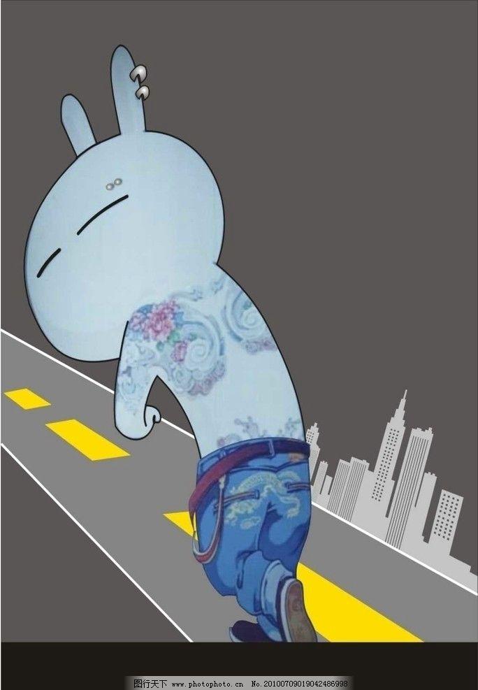 奔跑纹身流氓兔图片