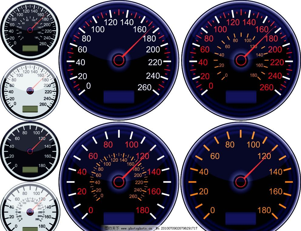 汽车仪表矢量素材图片