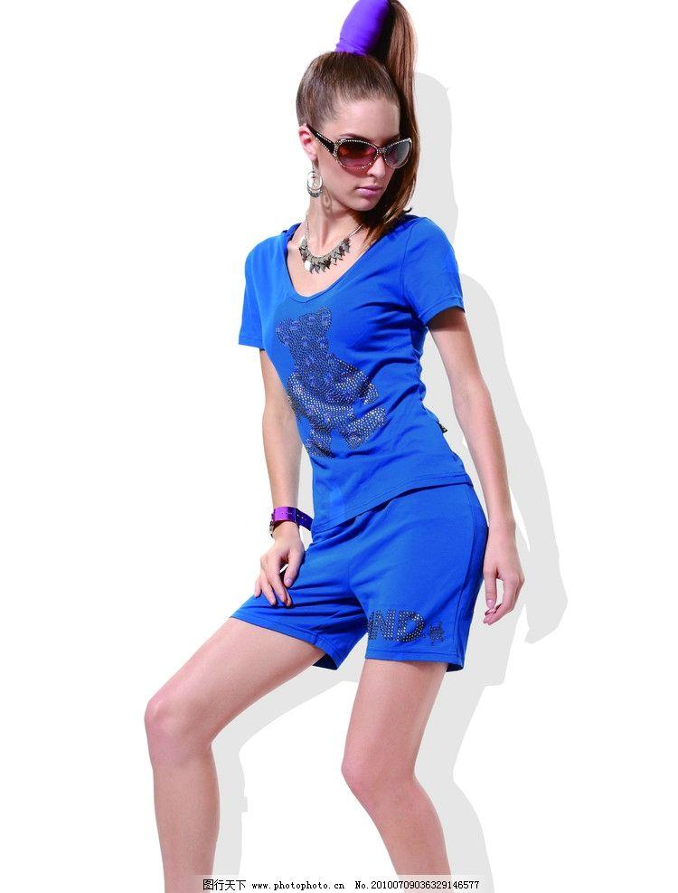 时尚美女 休闲服装 运动装图片图片