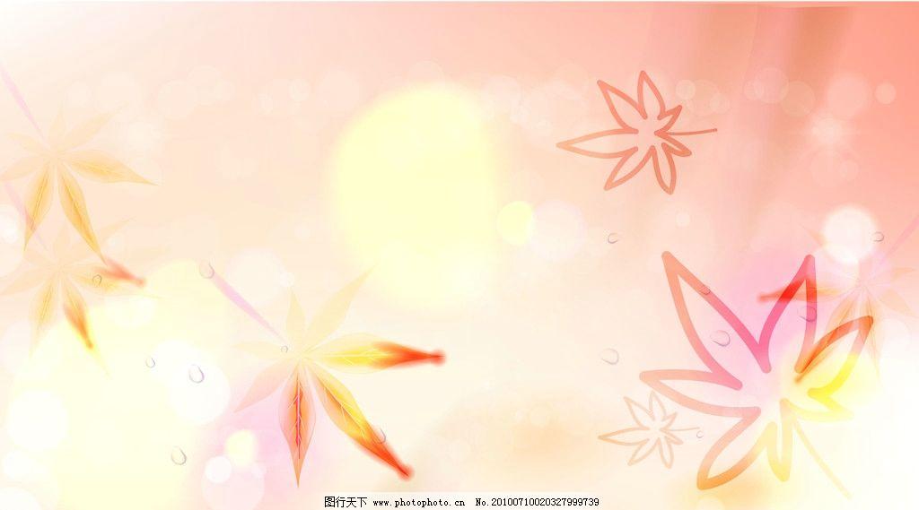 枫叶情 移门 枫叶 梦幻 星光 韩国花纹 水珠 花边花纹 底纹边框 设计