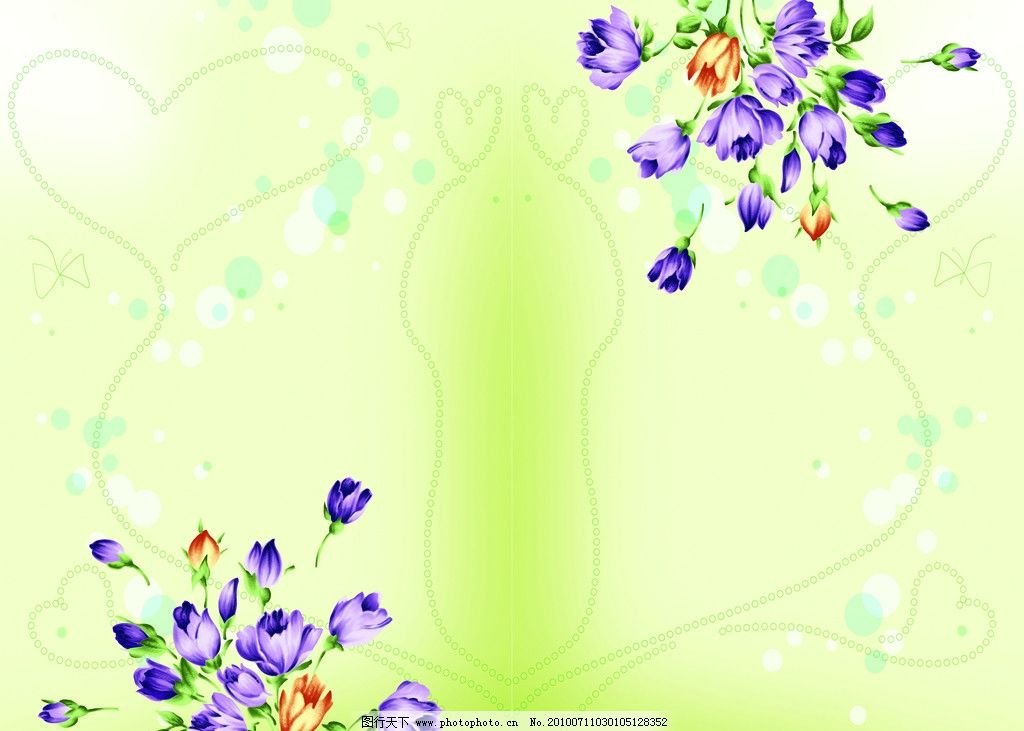 手绘花卉 手绘 韩国手绘 韩国花卉 移门 玻璃画 花纹 心型 可爱圈圈