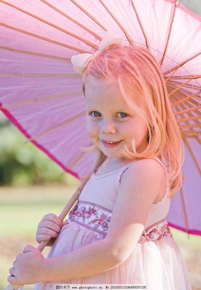 撑伞女孩 童装 金发女孩 摄影图库 人物图库 儿童幼儿 高清图片 小