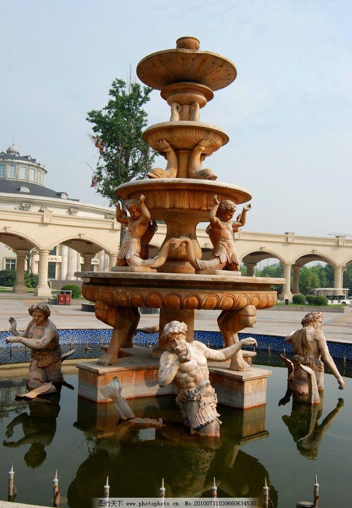 欧式喷水池 喷水池 欧式雕塑