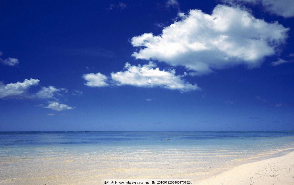 海边沙滩 海边 沙滩 海南 三亚 夏天 夏日 蓝天 白云 蓝色大海 蓝天