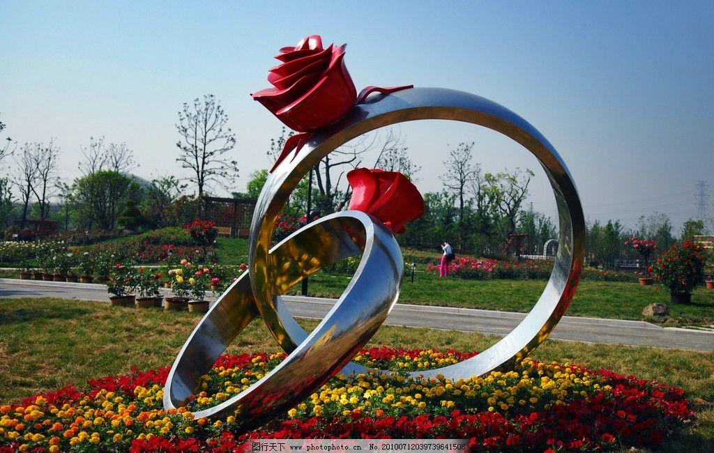 太仓玫瑰园 太仓 公园 玫瑰园 雕塑 花坛 其他 建筑园林 摄影 300dpi