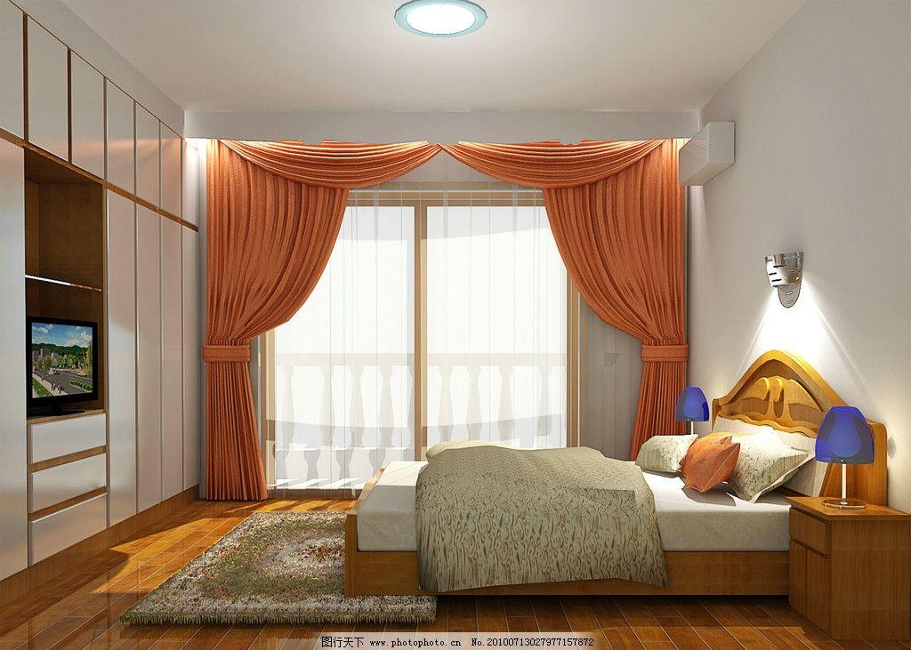 一点斜透视卧室