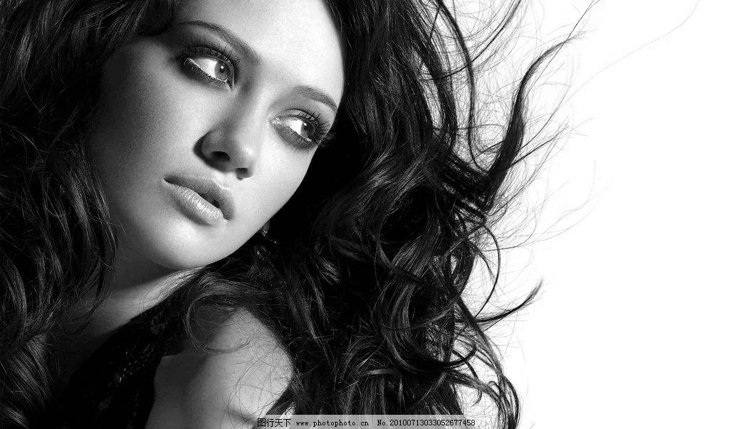 美女秀发扣好图片,艺术照 写真 黑白照 模特 美发-图图片