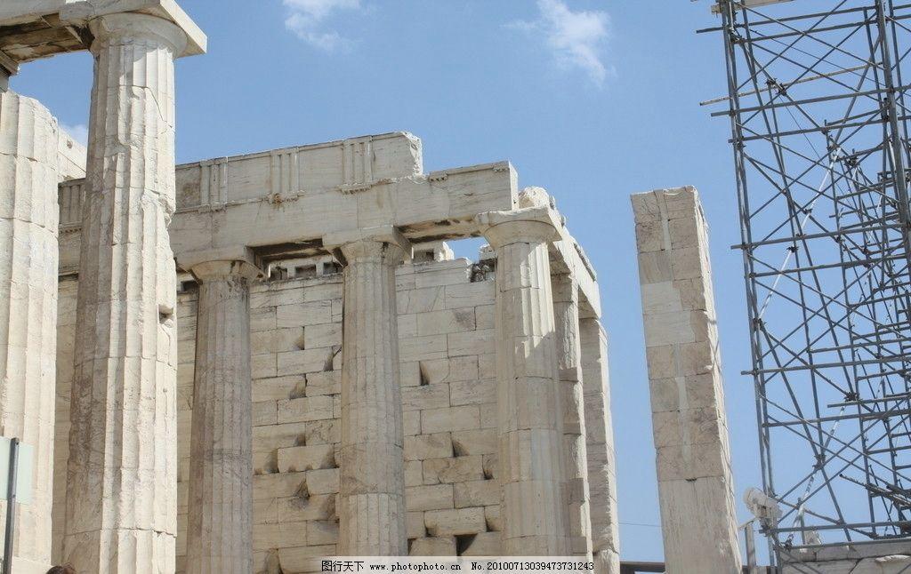 神庙 希腊 希腊风光 雅典 古迹 巴特农神庙 古希腊 希腊建筑 风光