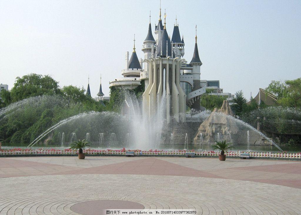 喷泉 树木 广场 建筑 欧式风格 欧式建筑 国内旅游 旅游摄影 摄影 180