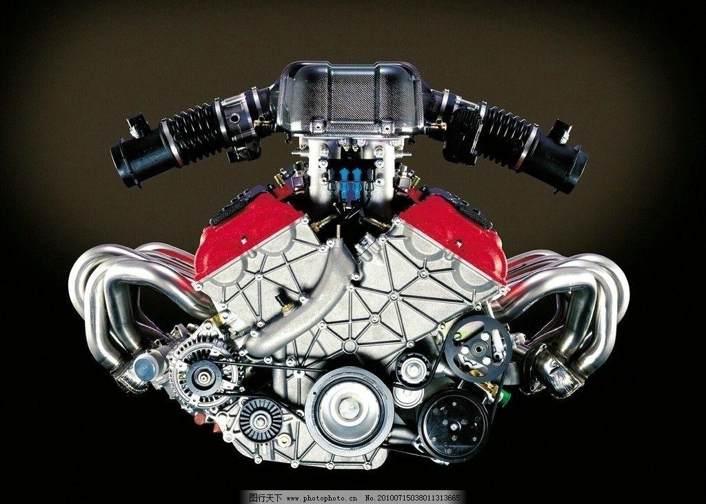 汽车发动机 豪华汽车发动机 发动机内部结构 汽配 高清效果图 摄影
