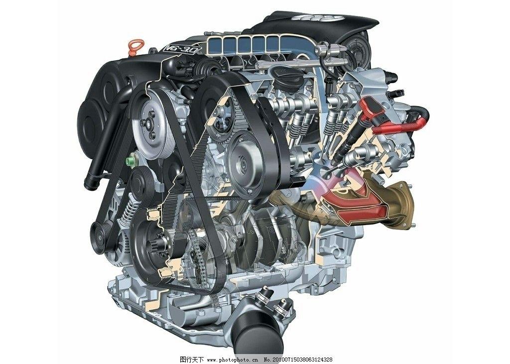 现代科技 交通工具  汽车发动机 豪华汽车发动机 发动机内部结构 发动