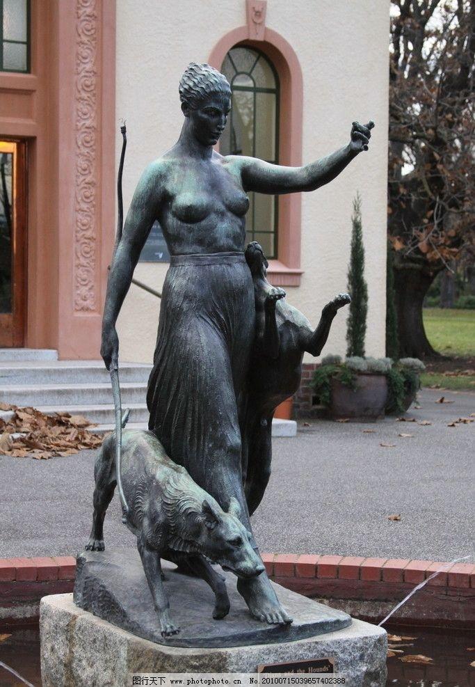 墨尔本公园女皇雕塑图片