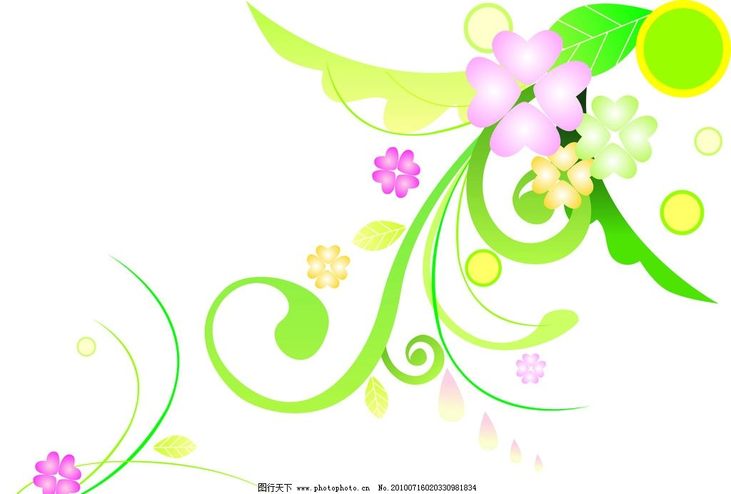 花纹 矢量 简单 春天 背景 花纹花边 底纹边框 cdr