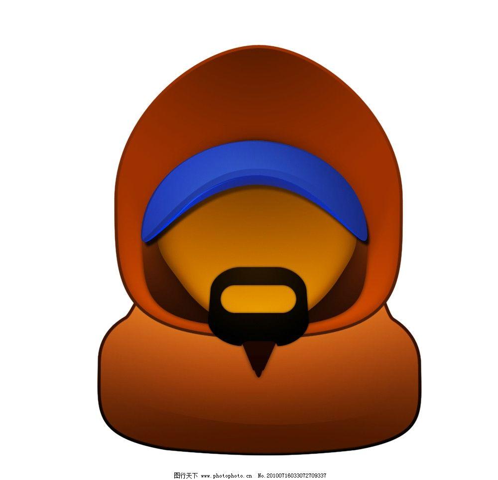 经典头像图标      图标 周杰伦 帽子 衣服 胡子 经典 嘴巴 蓝色 黄色