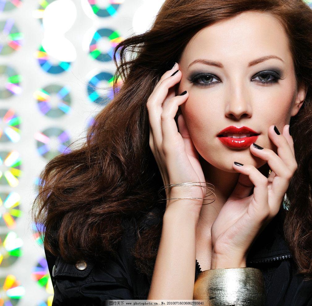 平面模特彩妆图片