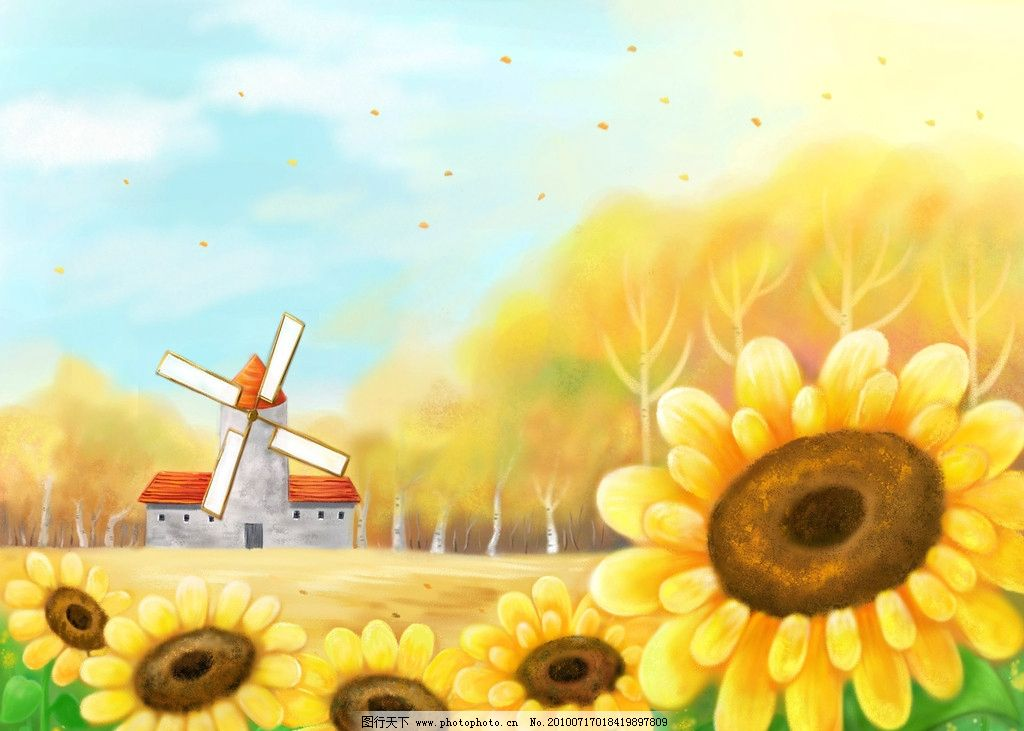 卡通 向日葵