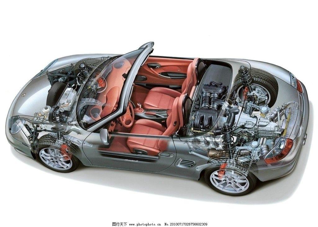 汽车透视 汽车透视图 汽车 透视图 小汽车 轿车 透视 结构 零件 部件