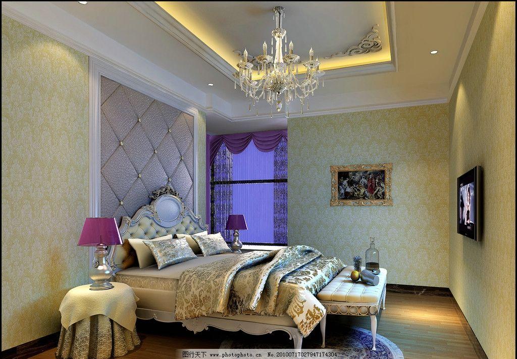 效果图 罗马/欧式卧室效果图图片