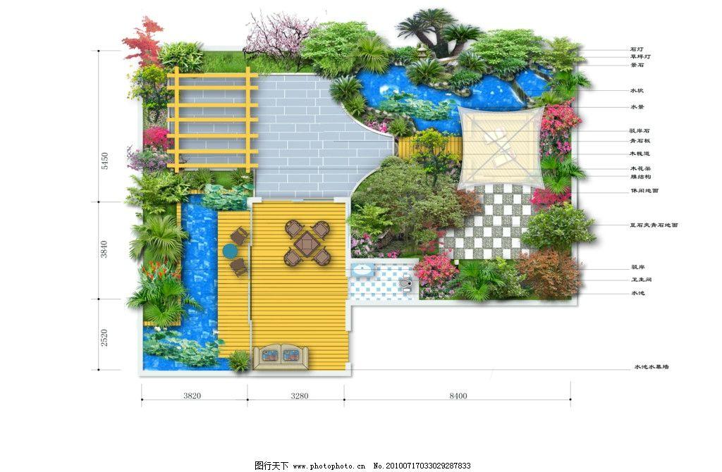 别墅庭院设计图片图片