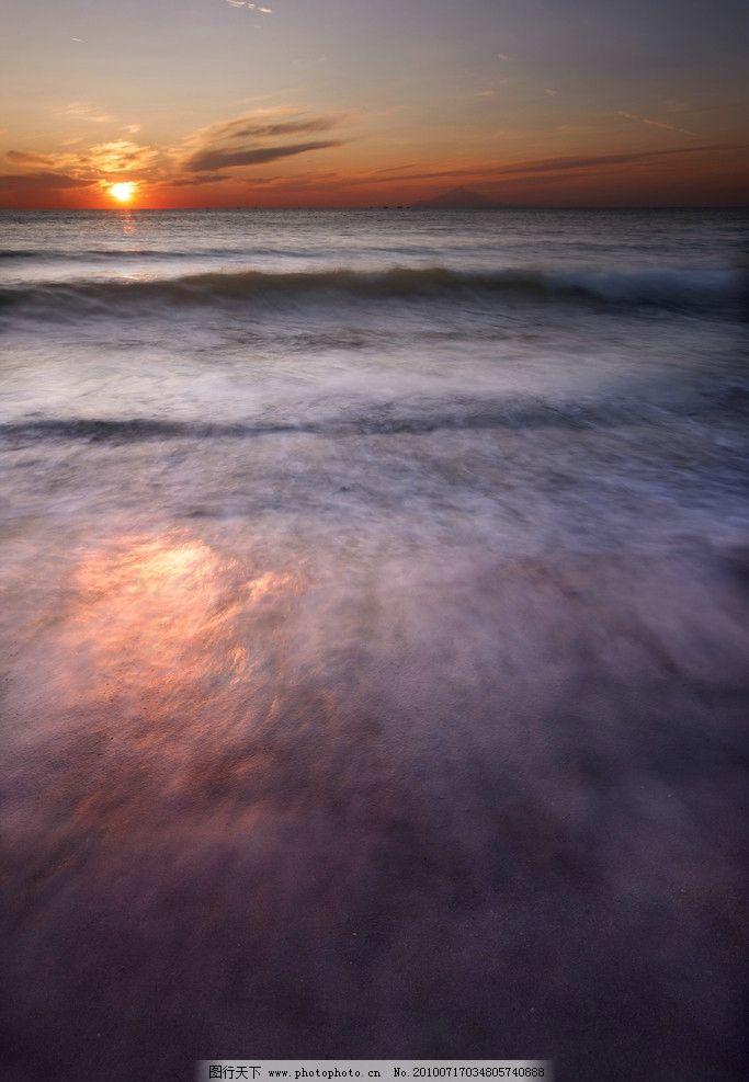 海边落日美景图片
