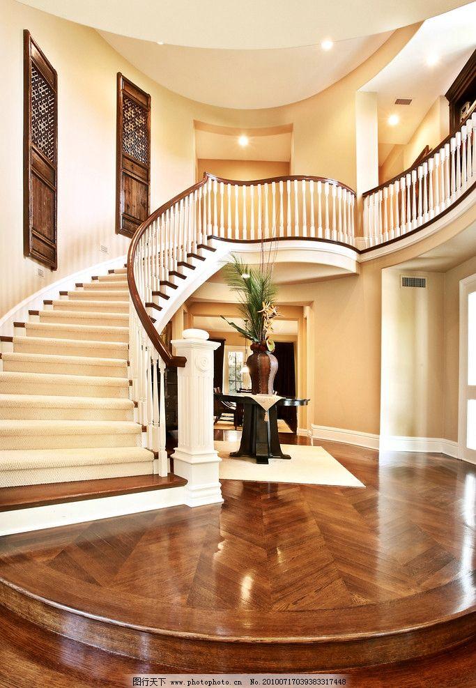 楼梯空间 旋转楼梯 奢华 地板 石材 玄关 欧式 黄色 大厅 室内