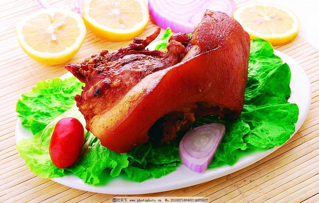 卤猪头肉 摄影 超市食品用图 绿色食物 高分辨jpg 300dip 超市商场常