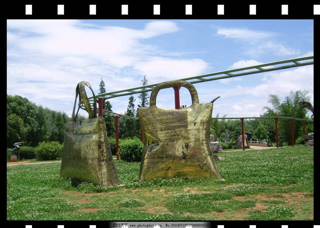 手提包 风景 自然 天空 白云 雕塑 园林建筑 园林雕塑 雕刻 国内旅游
