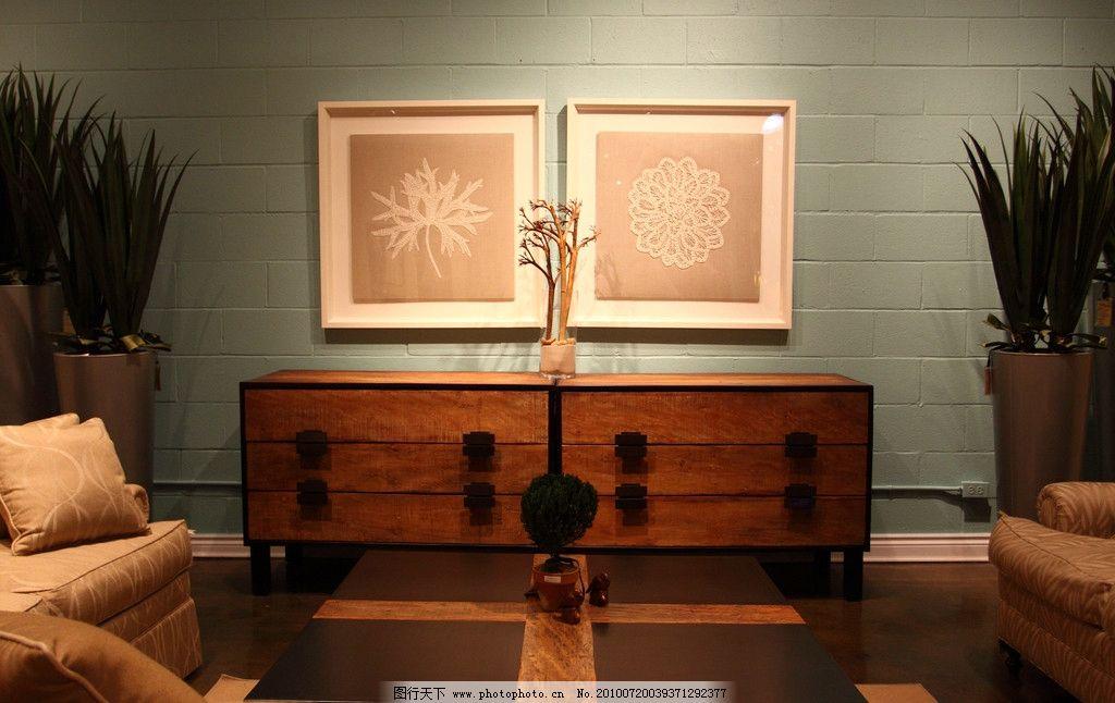 欧式古典家具 欧洲 古典 家具 沙发 橱柜 壁挂 茶几 室内摄影 建筑