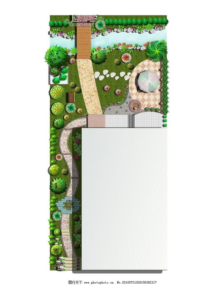 花园 别墅 景观设计 草坪