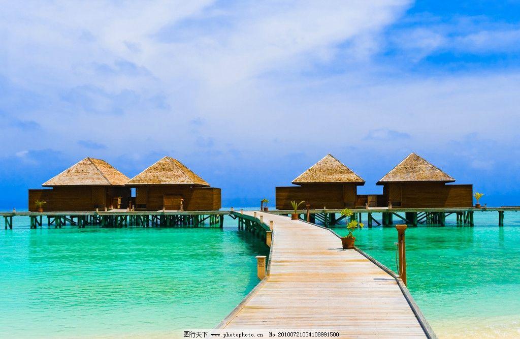 加勒比海码头图片_自然风景_旅游摄影_图行天下图库