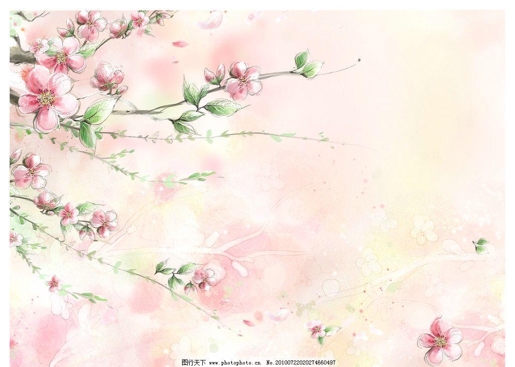 桃花边框简笔画
